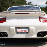 Porsche 997 Turbo S from the rear