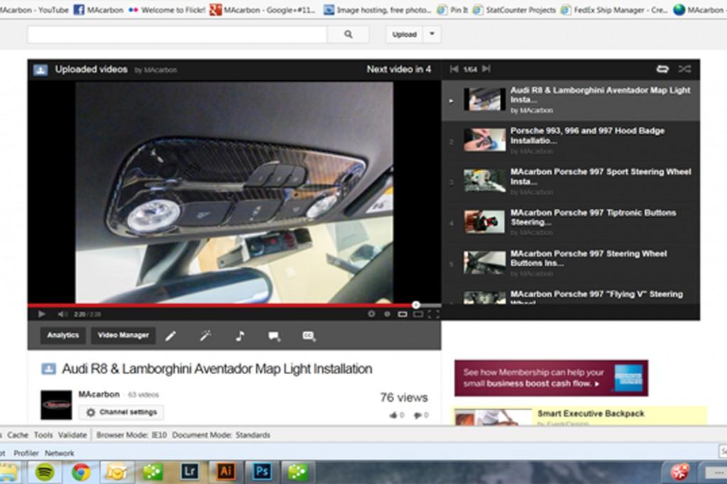 Audi R8 and Lamborghini Aventador Map Light Install Screen Shot