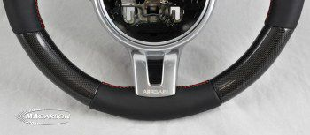 997/991 Sport Design Steering Wheel - Carbon  Top, Leather/Carbo