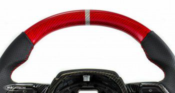 Huracan Steering Wheel (Red Carbon Top)