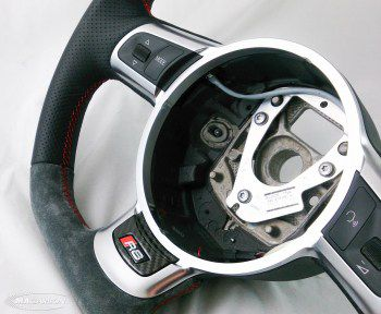 Audi R8 Wheel(Thick)- Suede Top & Bottom, Carbon Ring