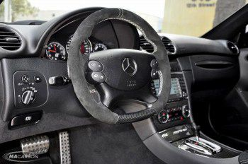 Mercedes CLK Steering Wheel- Suede Top & Grips