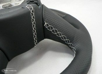 Audi R8 Wheel- Carbon Top & Bottom, Perforated Leather Grips, Si