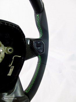 Aventador Wheel Top, Center Carbon, Verde Ring, Verde